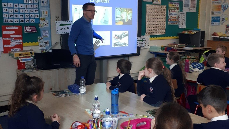 Civil Engineer Gareth Kelly visits 2nd Class