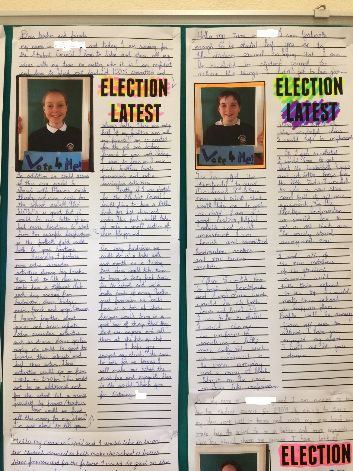 A very exciting campaign took place for the two student council seats. Congratulations to the ...