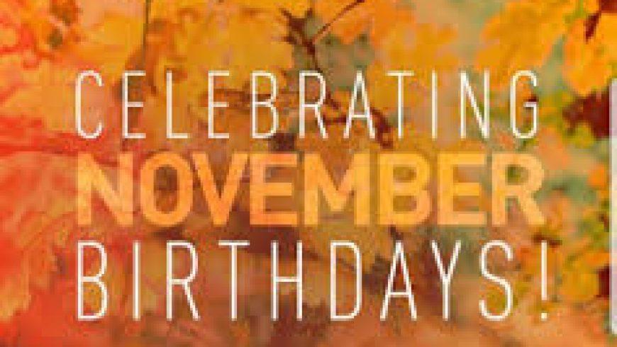 Our November Birthdays