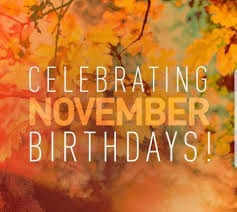 Our November Birthdays
