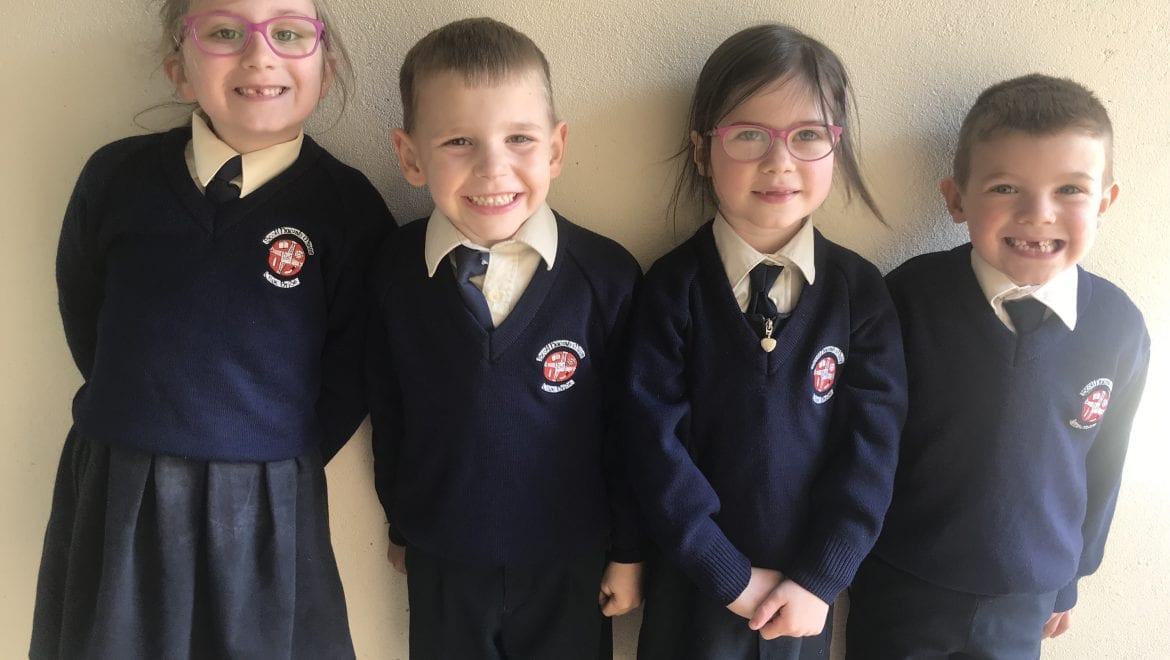 Our February Student and Person of the Month in Senior Infants