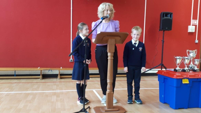 Presentation of 7th Green School Flag